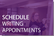 Schedule Writing Appointments