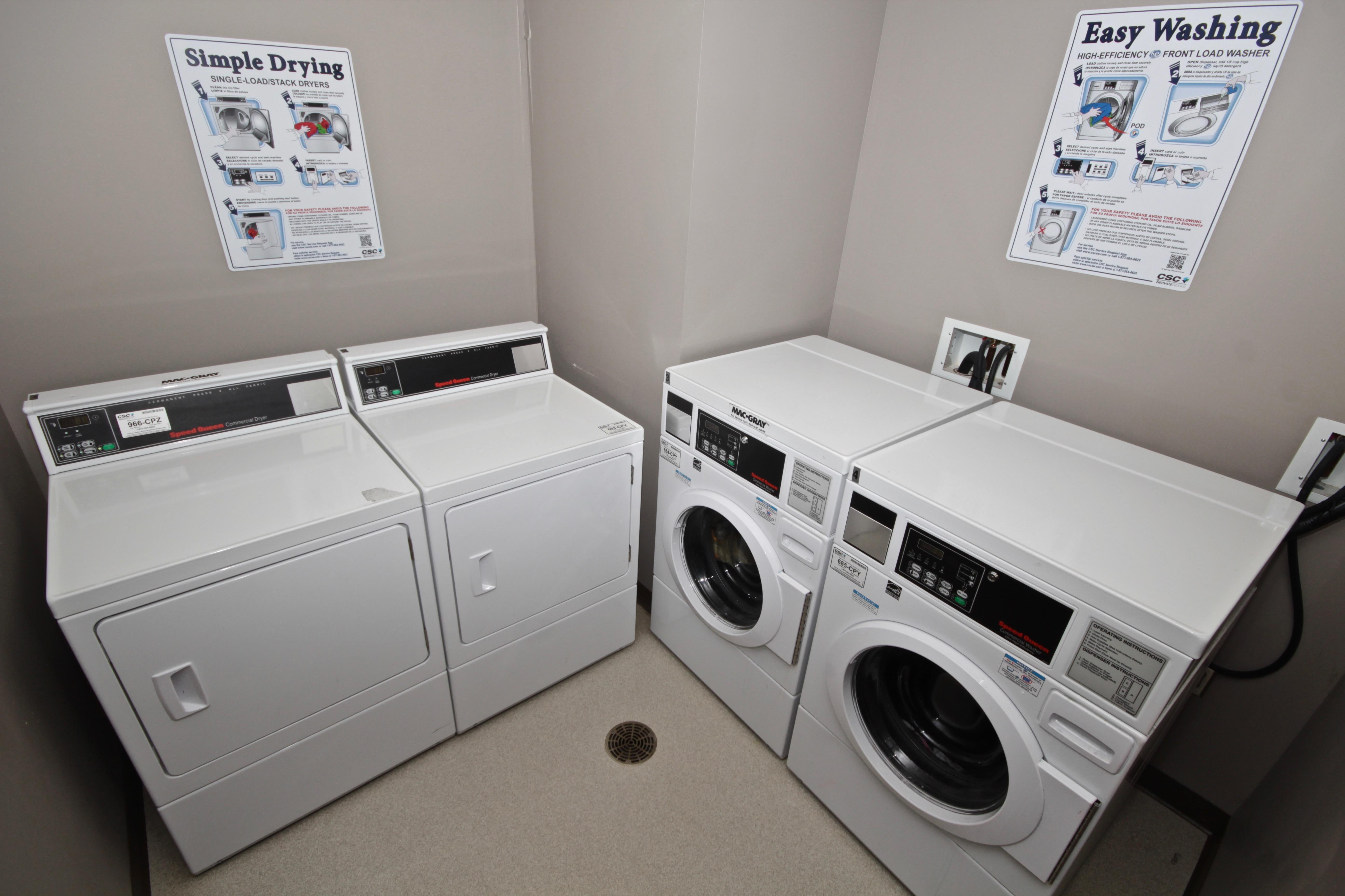 Free washer and dryer on each floor
