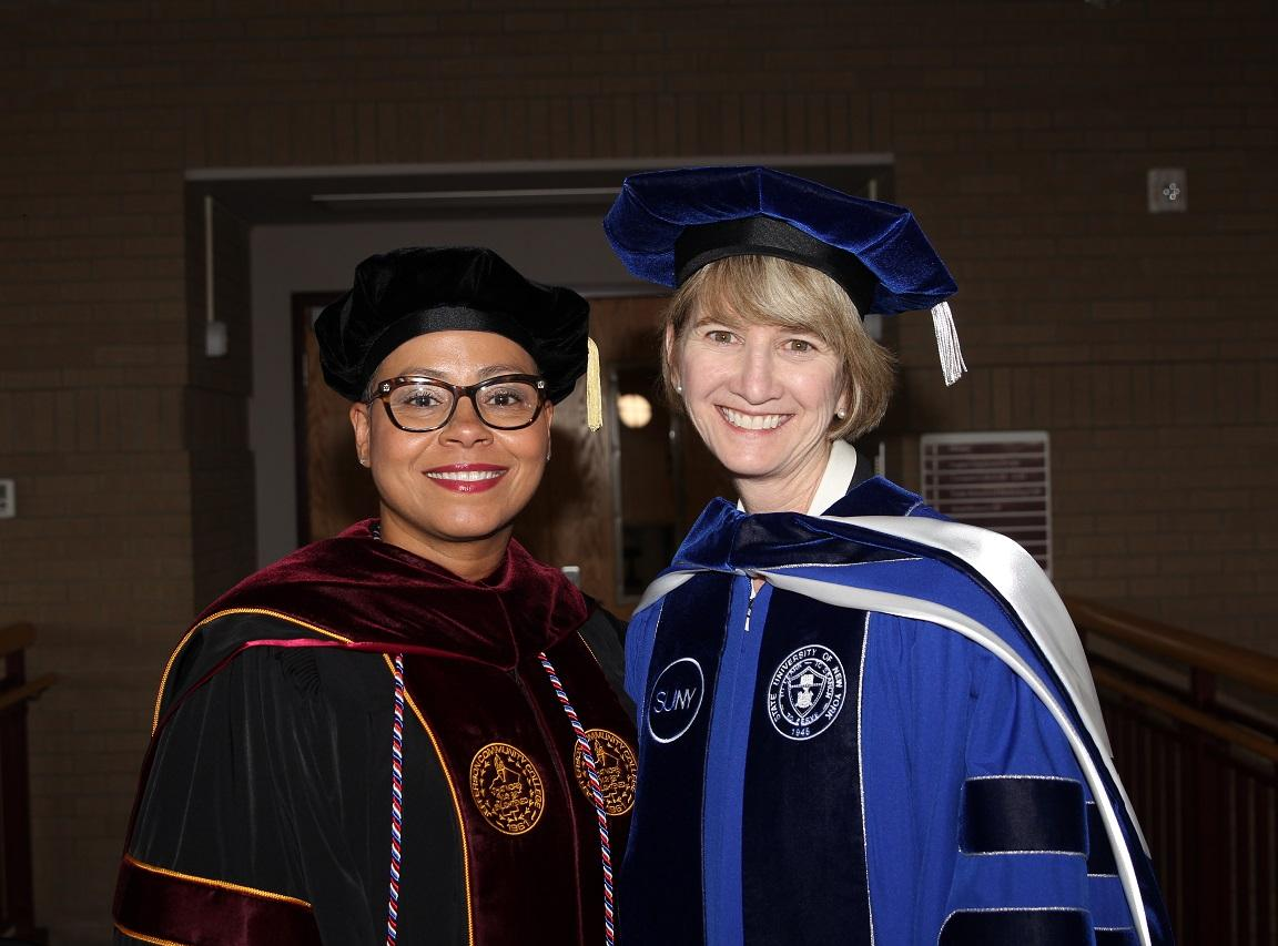 Dr. Stone pictured with SUNY Chancellor Johnson