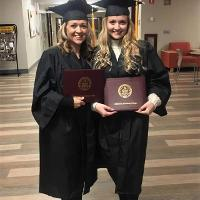 (L-R) Heidi L. O'Brien and Makaila L. Houghton at 2019 Jefferson Community College Commencement Ceremony.