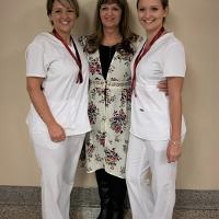 (L-R) Heidi L. O'Brien, Pam Dufresne, Makaila L. Houghton at December 2019 Nurse Pinning Ceremony at Jefferson Community College.