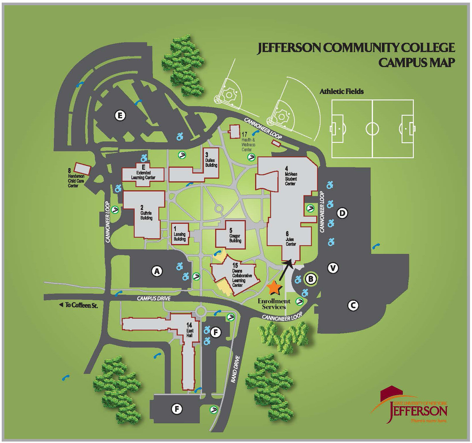 Jefferson Community College Campus Map