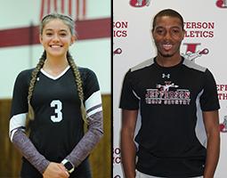 Alyssa B. Evans and Adama Samake Named Co-Athletes of the Week
